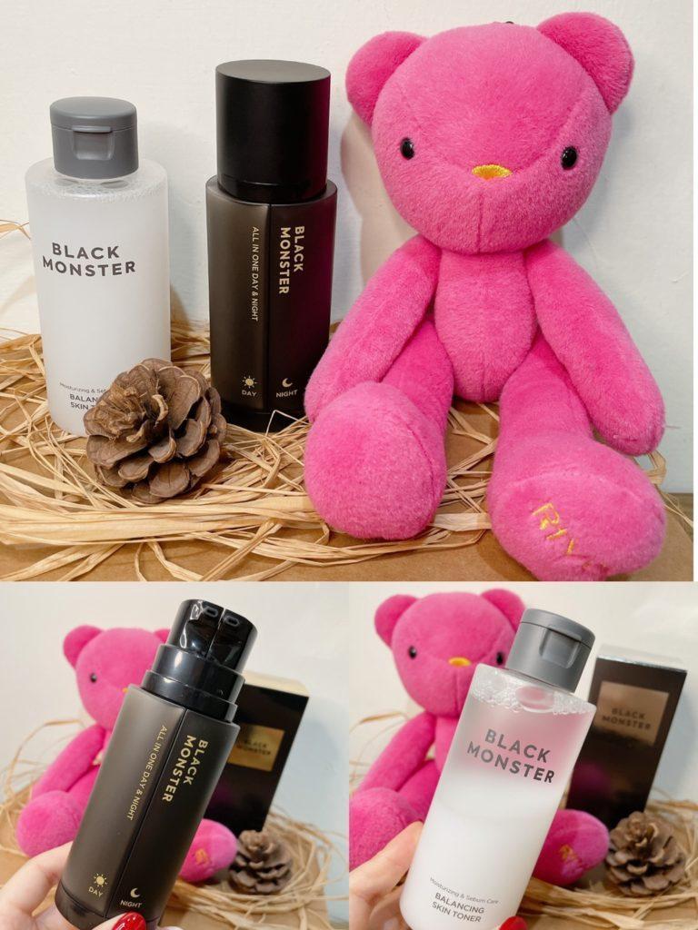 韓國男性品牌 Black Monster 控油平衡化妝水 日晚霜 使用心得評價推薦